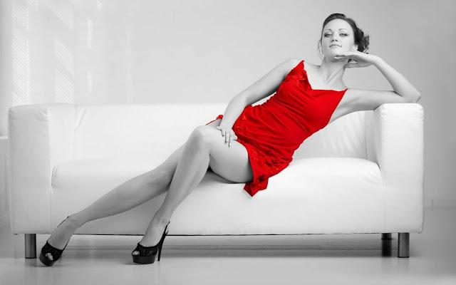 Red girl Valentine Day