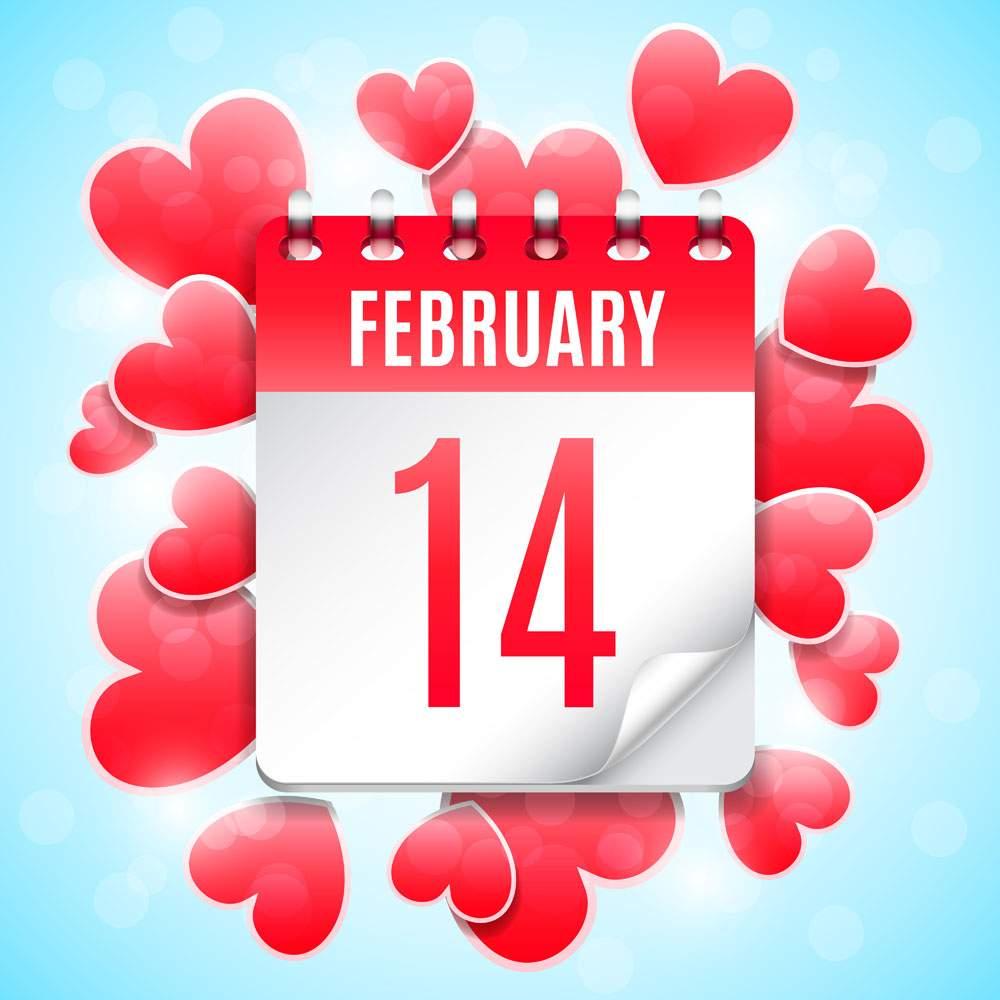 Valentines Day Calendar Image