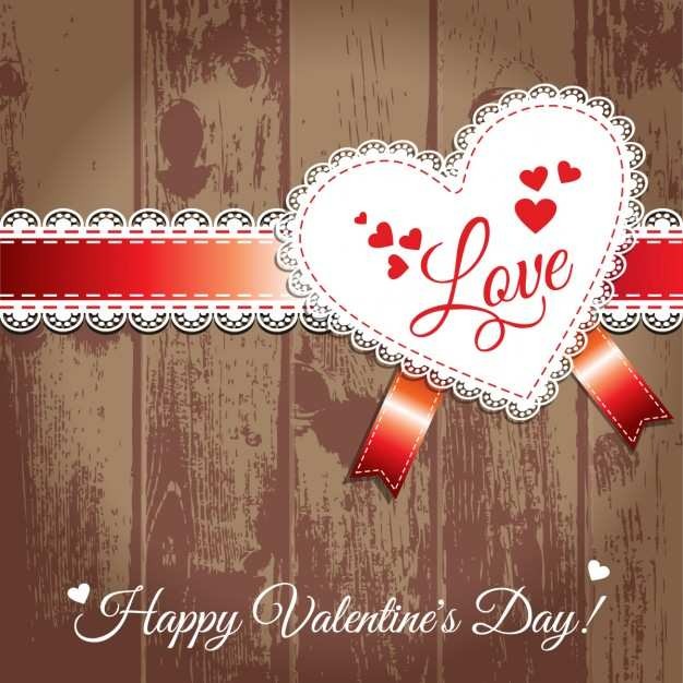 valentine label wood image