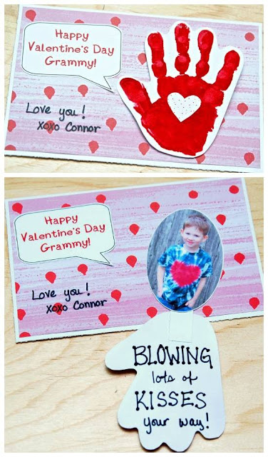 blowing kisses card