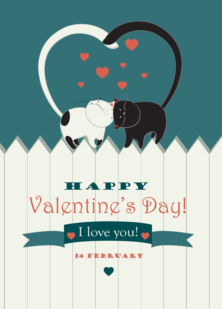 Cat Valentines Day Greetings Image