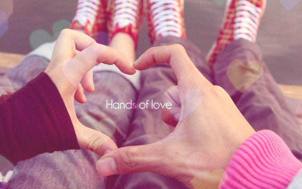 Love Couple Hands Wallpaper