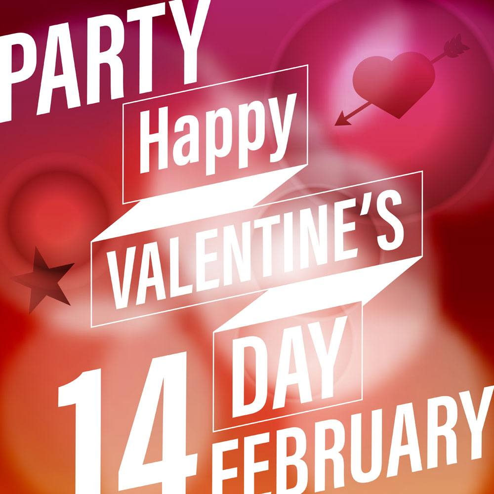 Valentines Day Party Poster Image