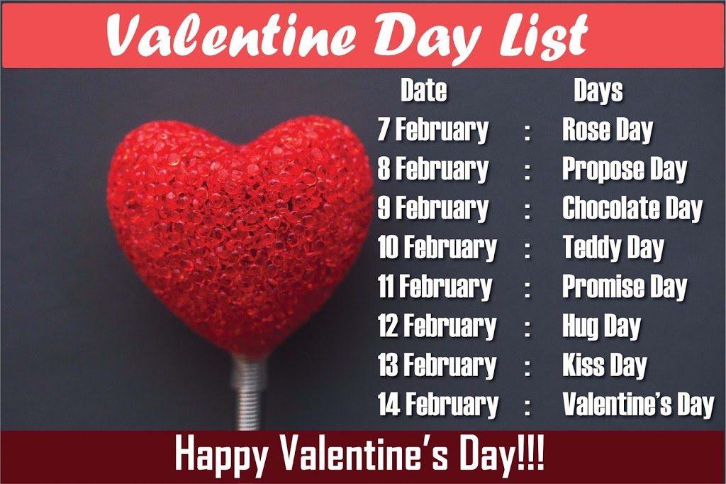 Valentine Week List 2021 Day Dates Timetable Happy Valentine Day